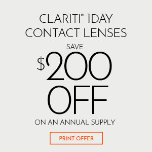 Clariti 1Day Contact Lenses Save $200 Off