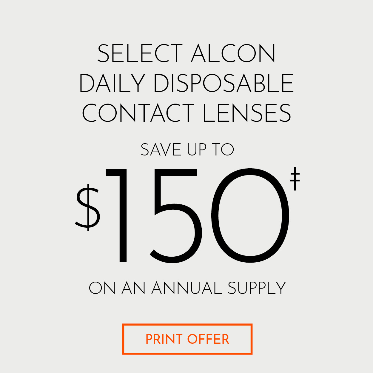 Alcon Daily Disposable Contact Lenses Save up to $150 Rebate